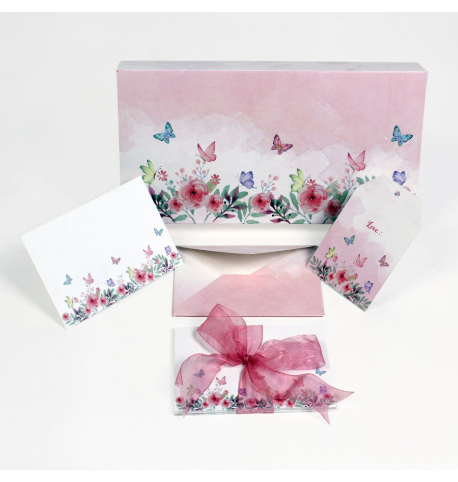 Winter Garden stationery box