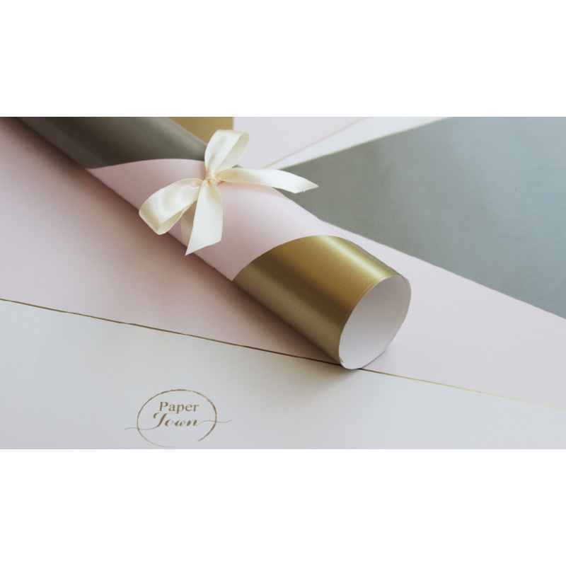 Asymmetrical Gilded wrapping paper