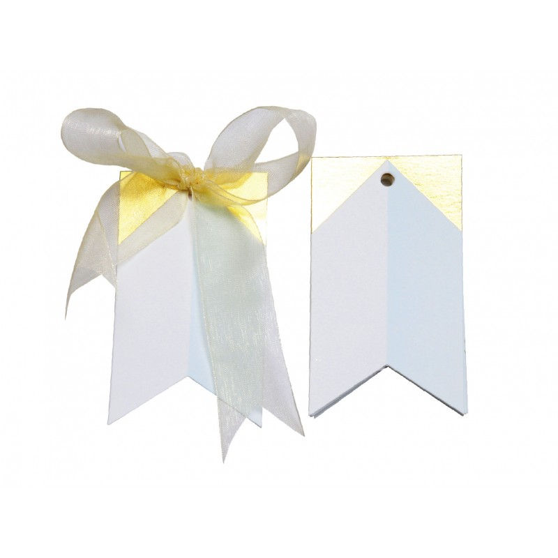 Gilded triangle Gift Tags (Blue)