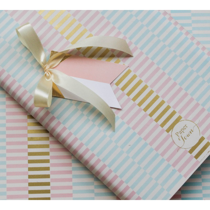 Gilded triangle Gift Tags (Pink)