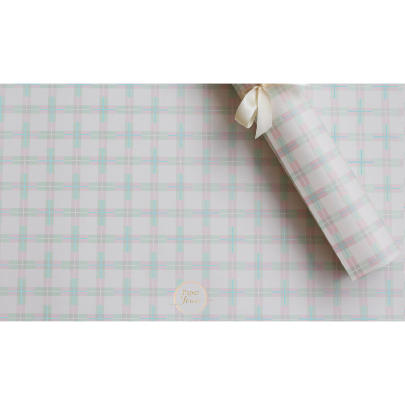Criss cross Pastel Wrapping paper