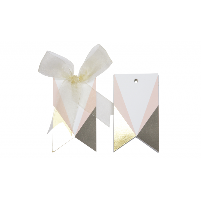 Asymmetrical Gift tags (Pink)