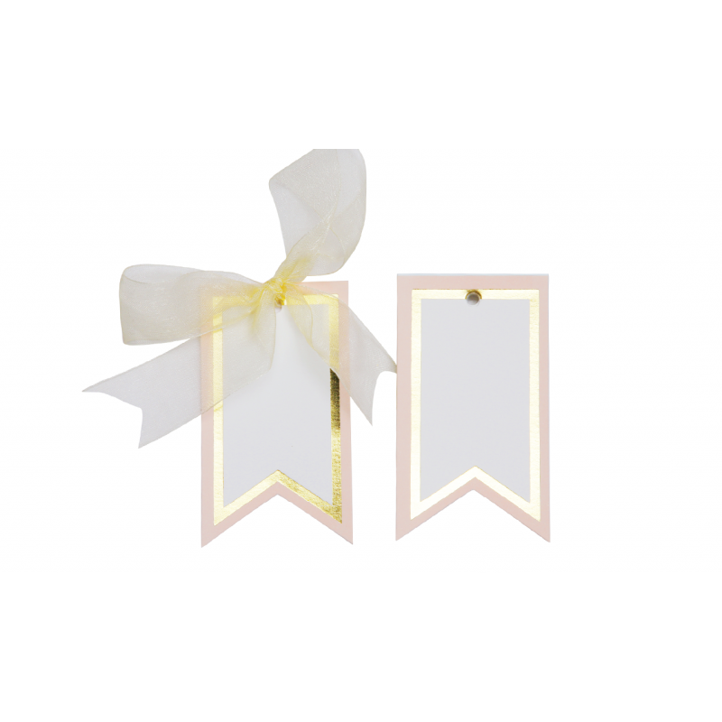 Gilded Border Gift Tags (Pink)